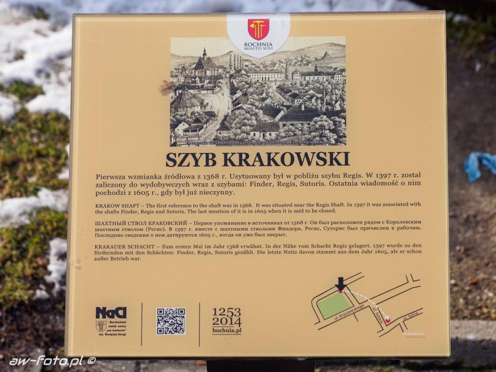 Szyb krakowski w Bochni, szlak Bocheńskich wagoników (NaCl)