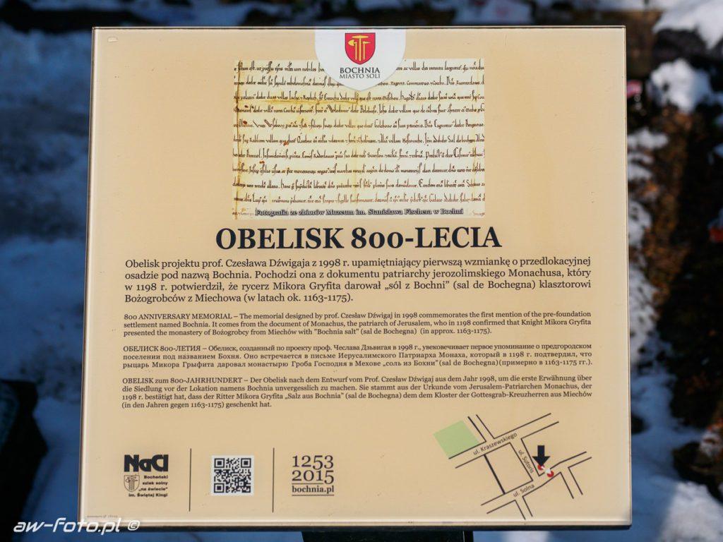Obelisk 800-lecia w Bochni