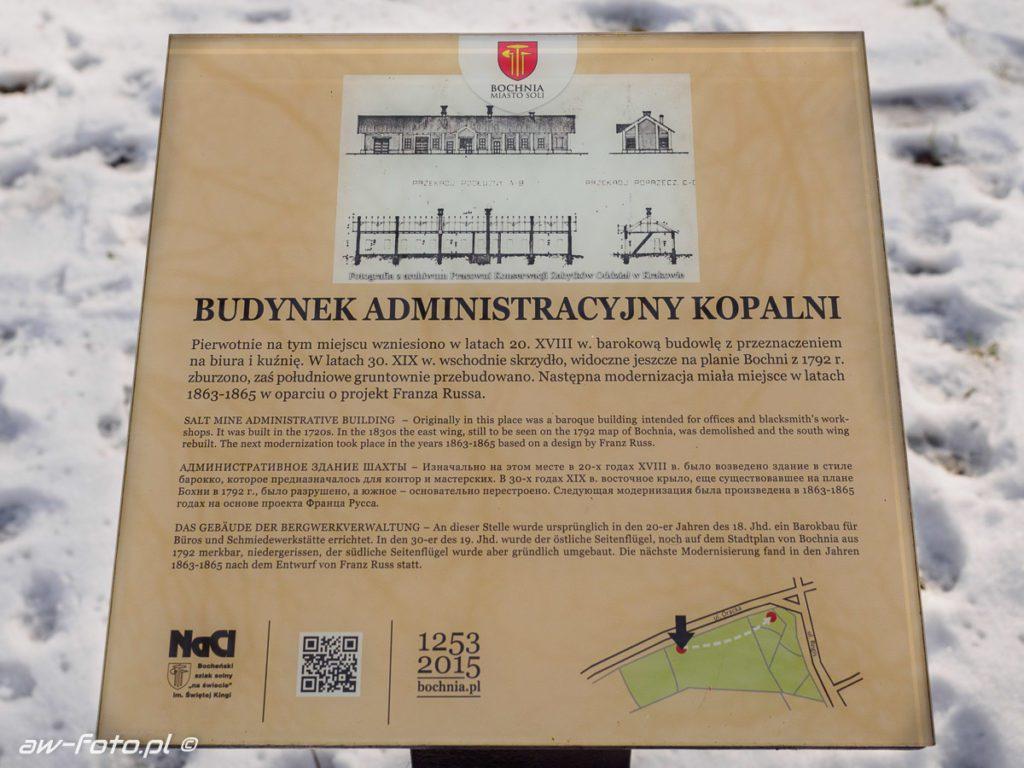 Budynek administracji kopalni w Bochni, szlak Bocheńskich wagoników (NaCl)
