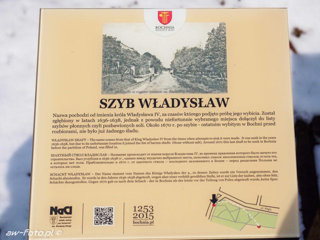 Szyb Władysław w Bochni, szlak Bocheńskich wagoników (NaCl)