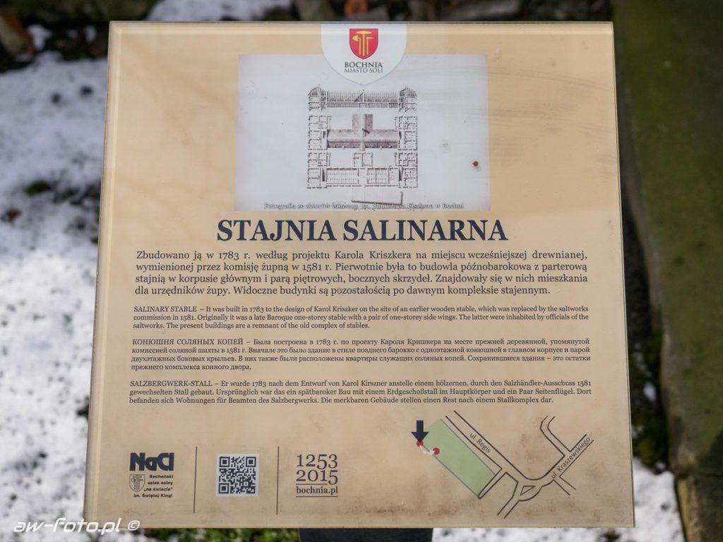 Stajnia Salinarna w Bochni, szlak Bocheńskich wagoników (NaCl)