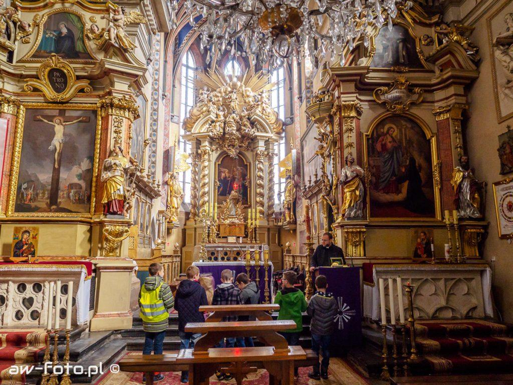 Wnętrze Kościóła pw. Dziesięciu Tysięcy Męczenników w Niepołomicach