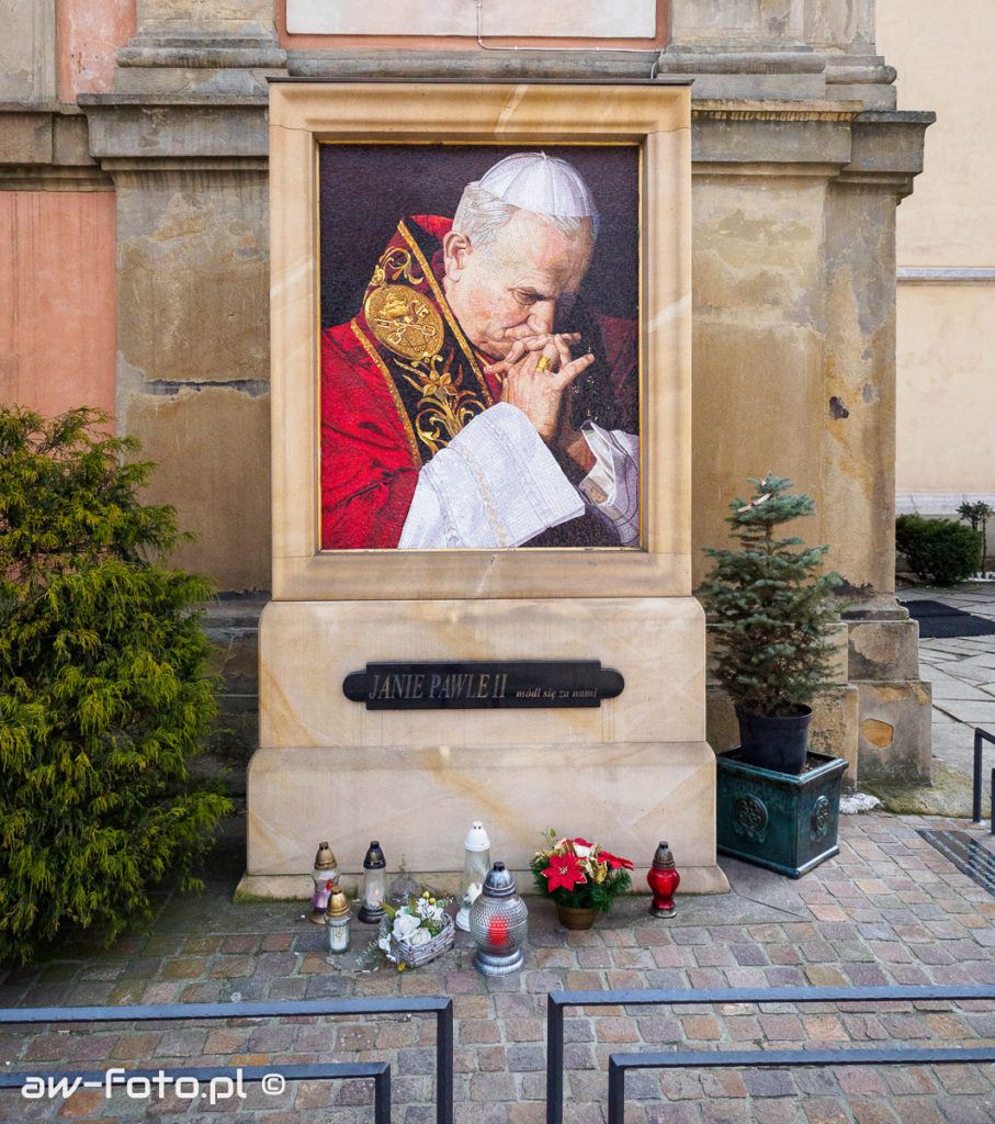 Mozaika z obrazem papieża Jana Pawła II