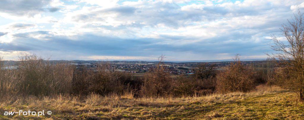 Via Regia Antiqua - panorama z grodziska w Chełmie w stronę Puszczy Niepołomickiej