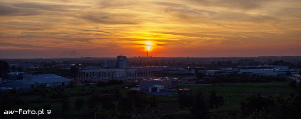 Kopiec Grunwaldzki w Niepołomicach - panorama i zachód słońca