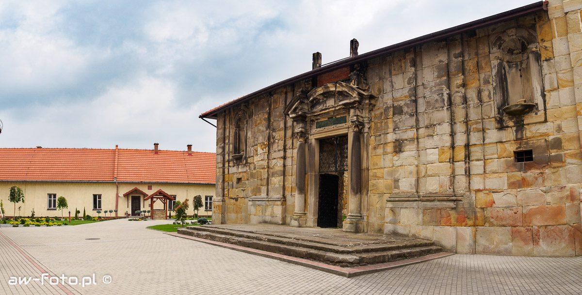Fasada kościoła p.w. Chrystusa Zbawiciela w Wiśniczu