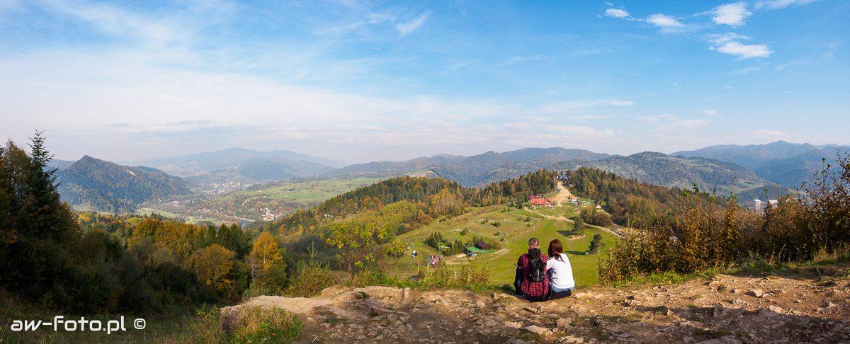 Widok z Szafranówki na Palenicę - panorama