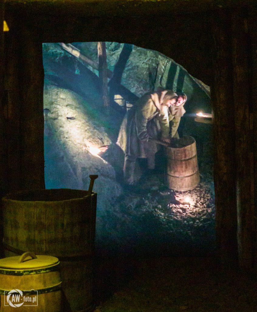 Kopalnia Soli w Bochni - górnicy podczas pracy