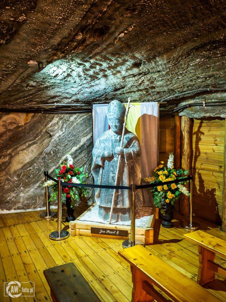 Kopalnia Soli w Bochni - pomnik Jana Pawła II