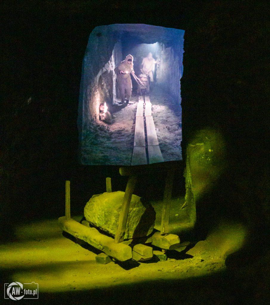 Kopalnia Soli w Bochni - praca górników