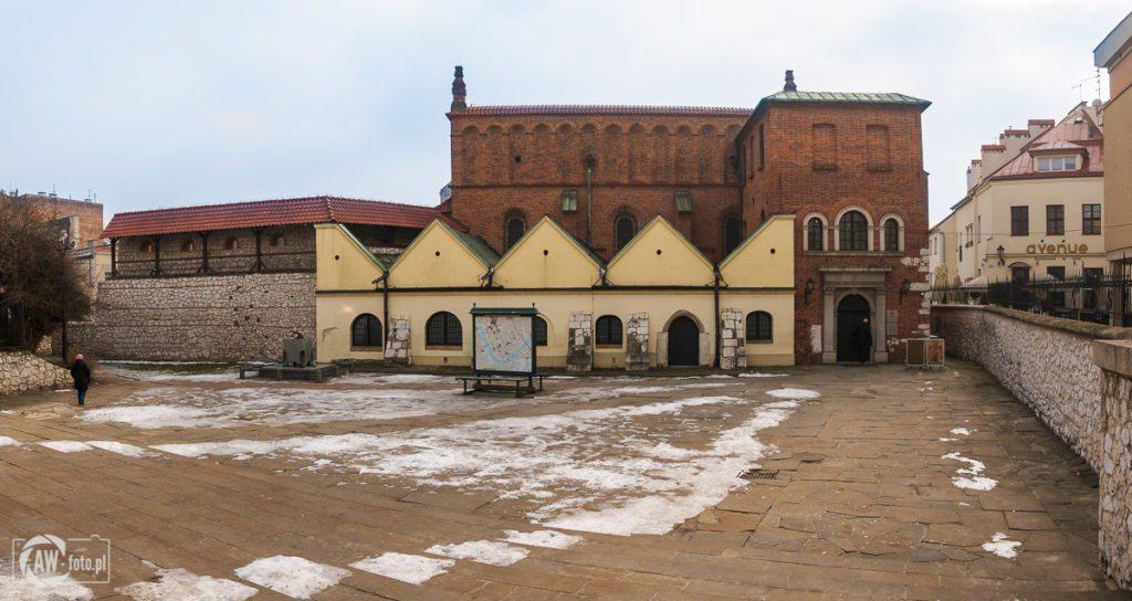 Stara Synagoga w Krakowie - widok od strony wejścia