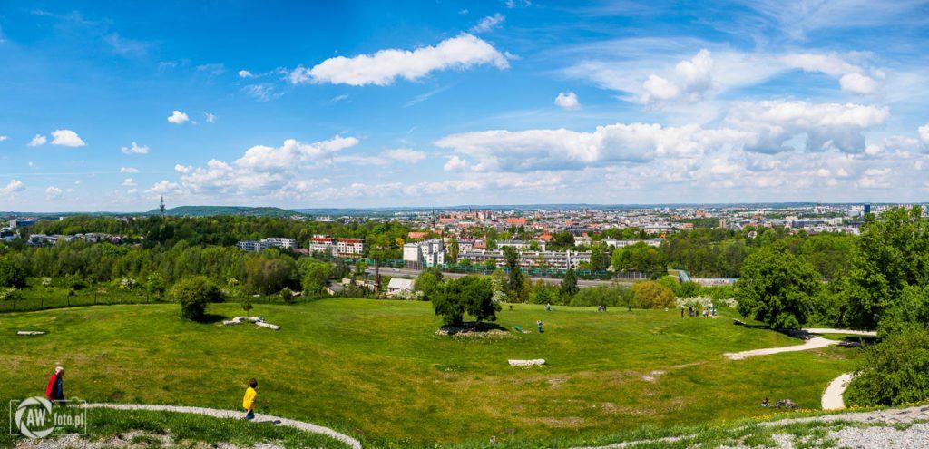 Kopiec Krakusa - panorama Zamku Wawelskiego