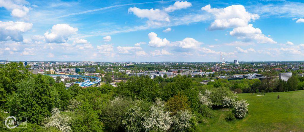 Panorama z kopca Krakusa - Nowa Huta