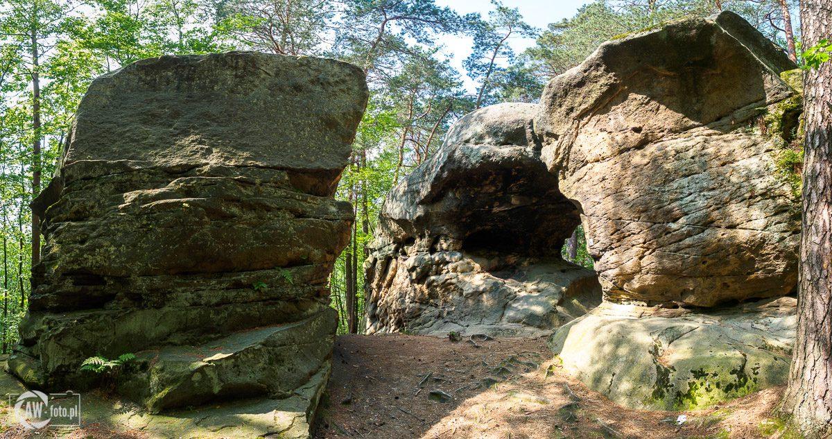 Kamienie Brodzińskiego - Skalne okno