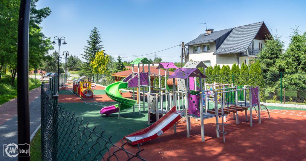 Kolejka w Bochni - plac zabaw