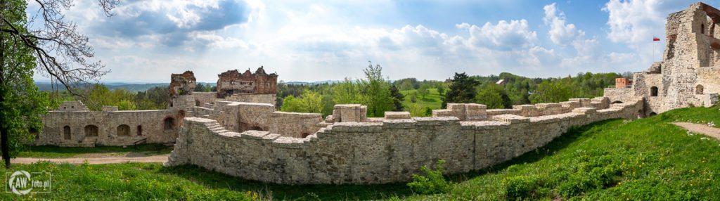 Zamek Tenczyn w Rudnie - mury