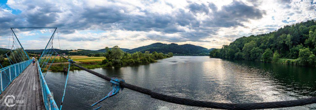 Kładka na Dunajcu w Tropiu