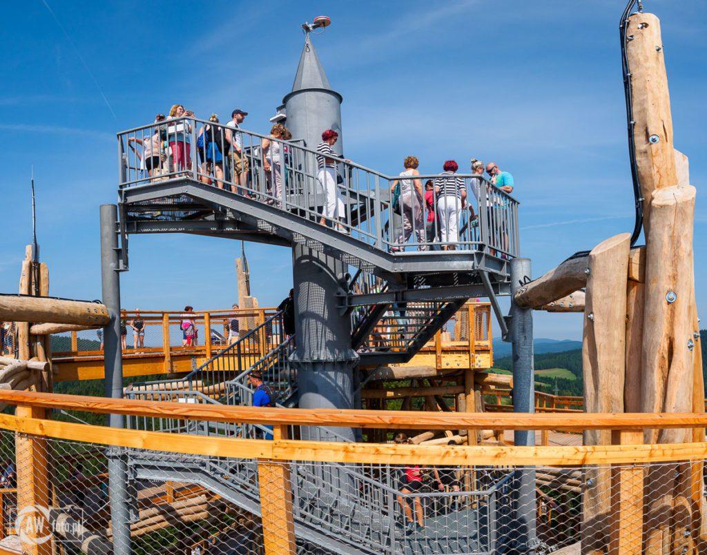 Wieża widokowa w Krynicy - Zdroju - szczyt wieży