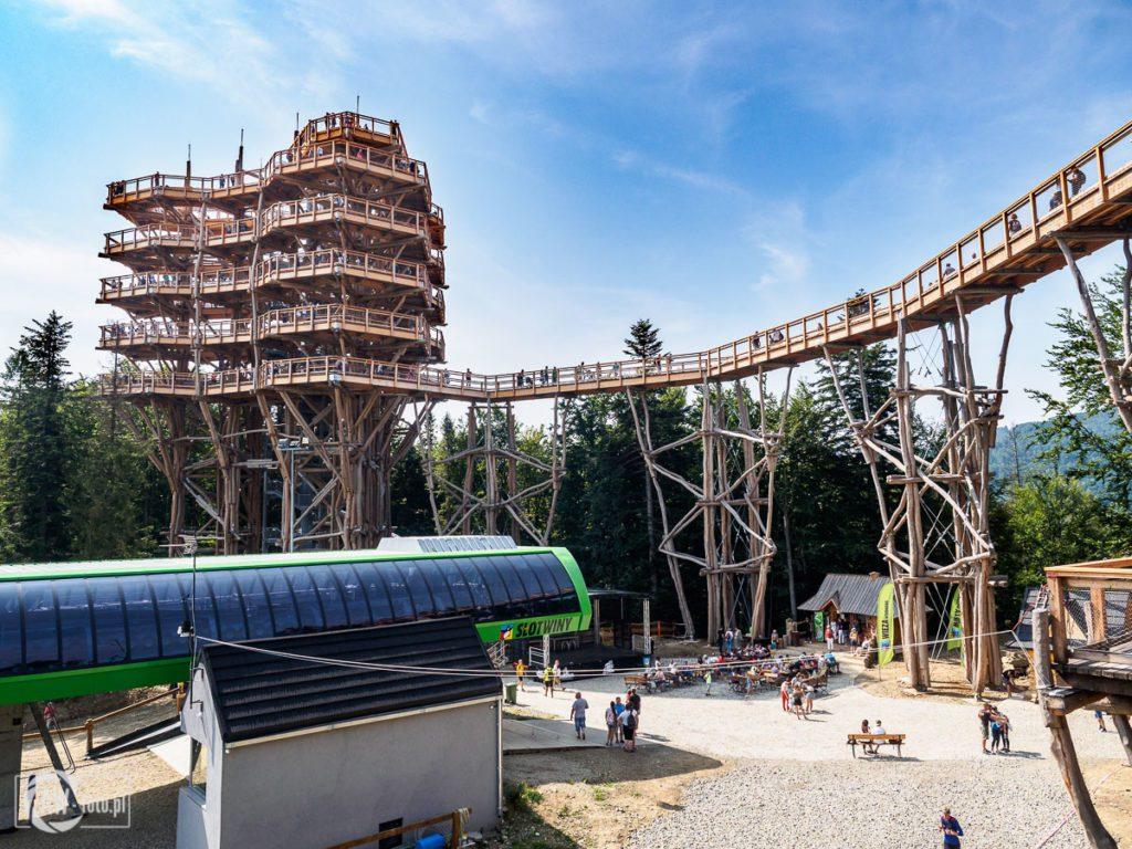 Wieża widokowa Krynica - Zdrój - wieża i górna stacja kolejki