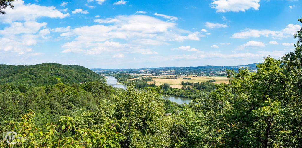 Zamek w Melsztynie - panorama ze wzgórza zamkowego