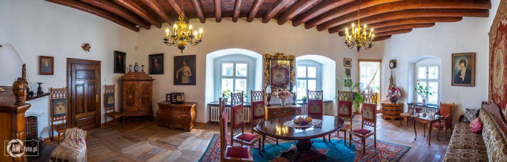 Zamek w Niedzicy - pomieszczenia mieszkalne na zamku średnim
