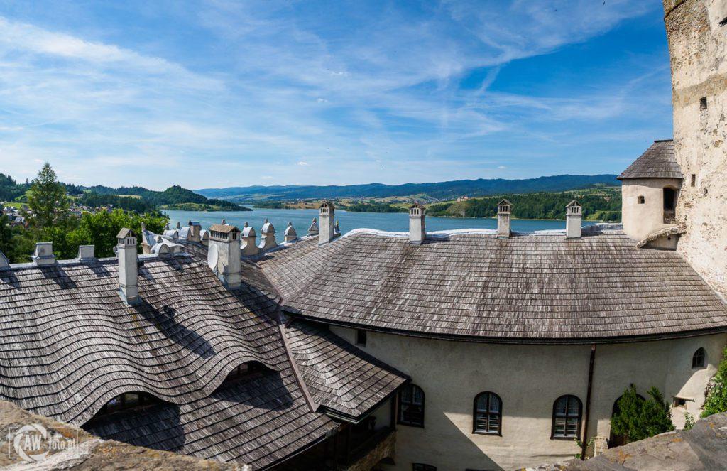 Zamek w Niedzicy - widok z punktu widokowego