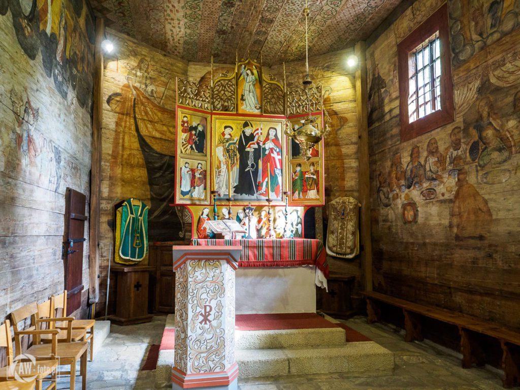 Kościół św. Leonarda w Lipnicy Murowanej - Ołtarz główny św. Leonarda