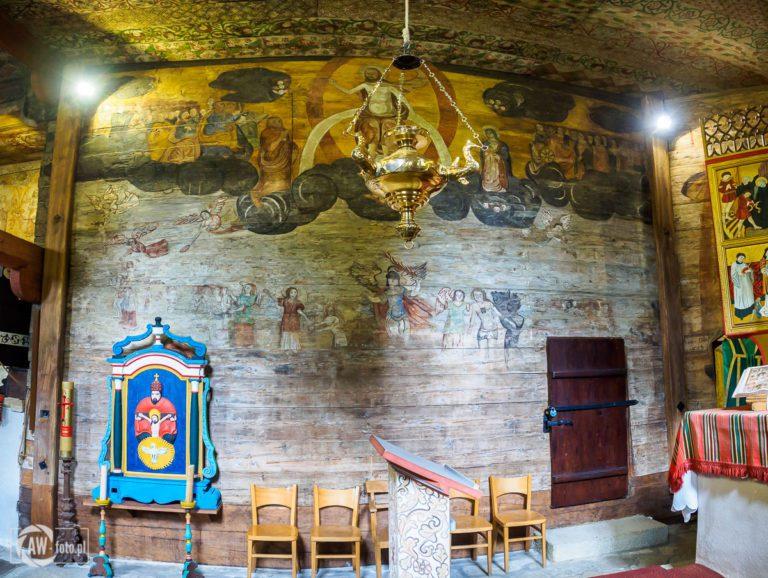 Kościół św. Leonarda w Lipnicy Murowanej - Sąd Ostateczny namalowany w prezbiterium