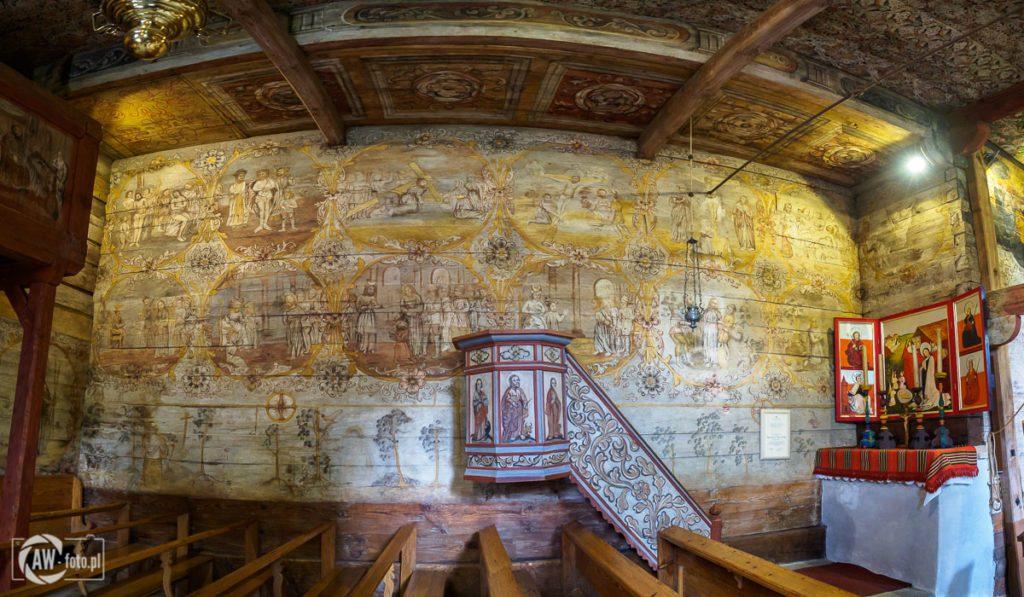 Kościół św. Leonarda w Lipnicy Murowanej - malowidła w nawie głównej