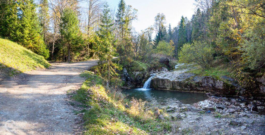 Rezerwat Biała Woda - wodna kaskada