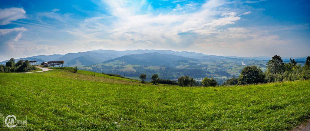Platforma widokowa w Woli Kroguleckiej - panorama