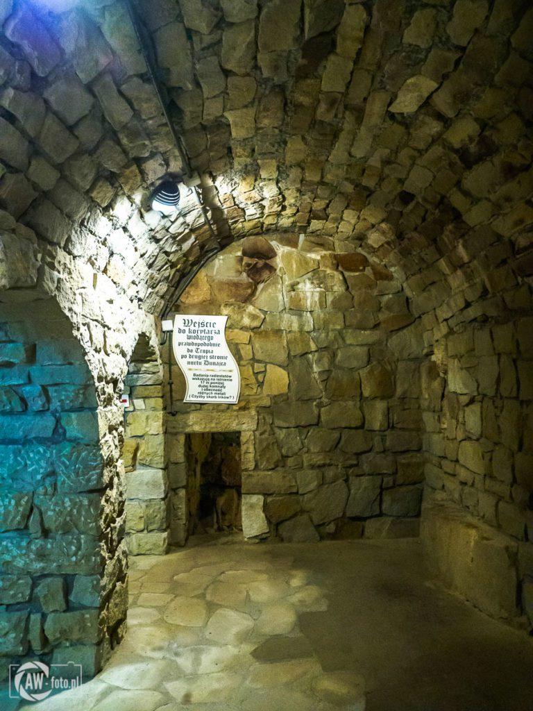Zamek Tropsztyn - prawdopodobne przejście do Tropia