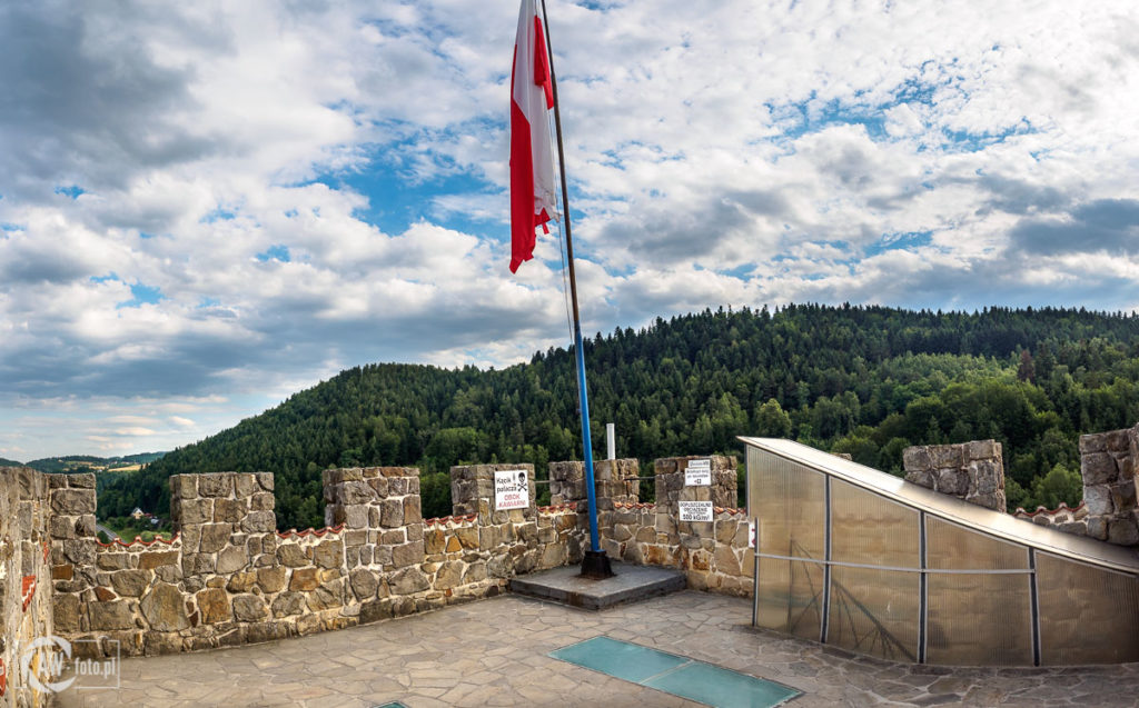 Zamek Tropsztyn - szczyt wieży