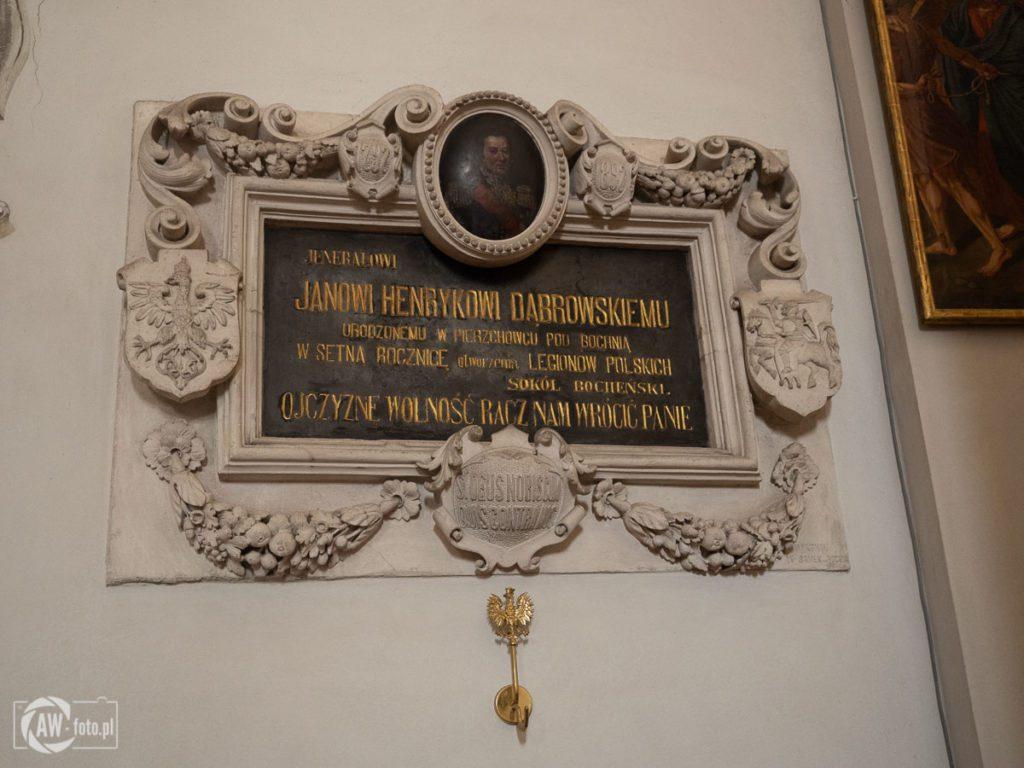 Bazylika św. Mikołaja w Bochni - tablica ku czci Jana Henryka Dąbrowskiego