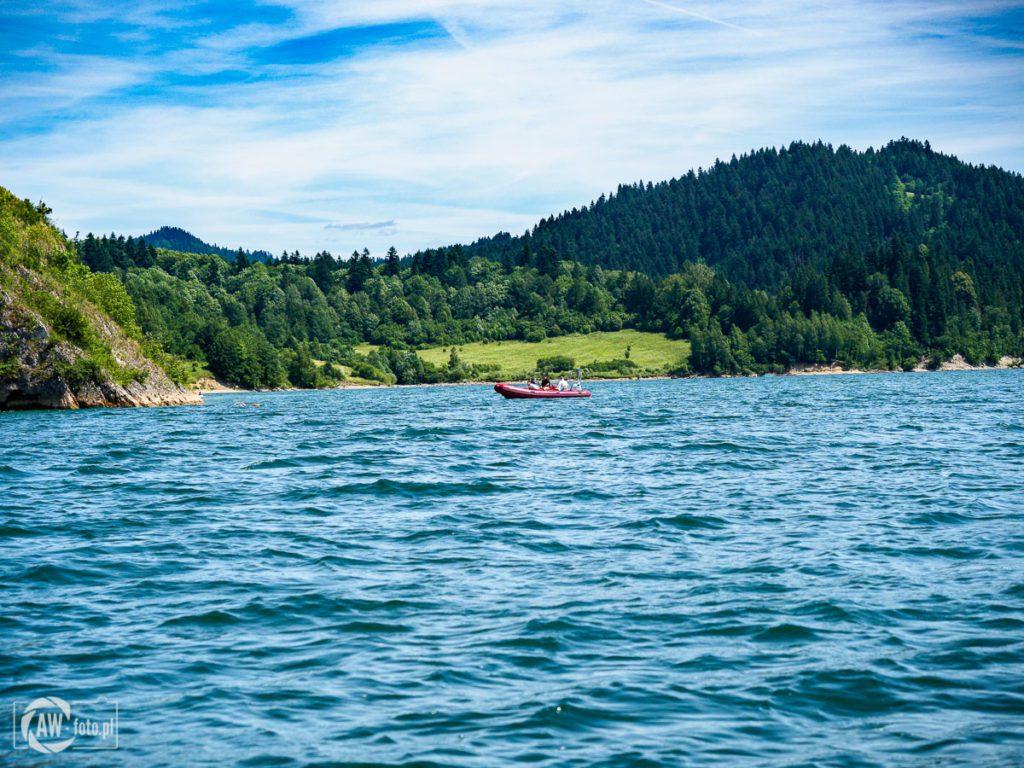 Jezioro Czorsztyńskie - ruch wodny