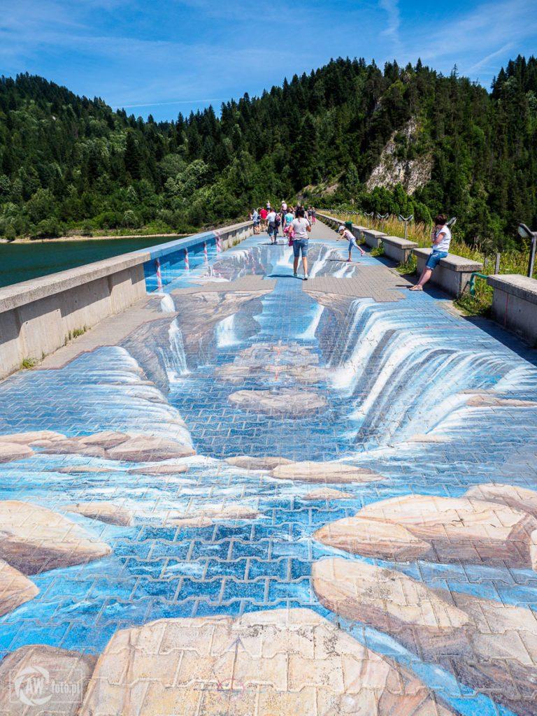 Zapora wodna w Niedzicy - malowidło 3D
